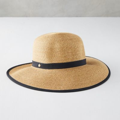 Ribbon Trim Straw Sun Hat