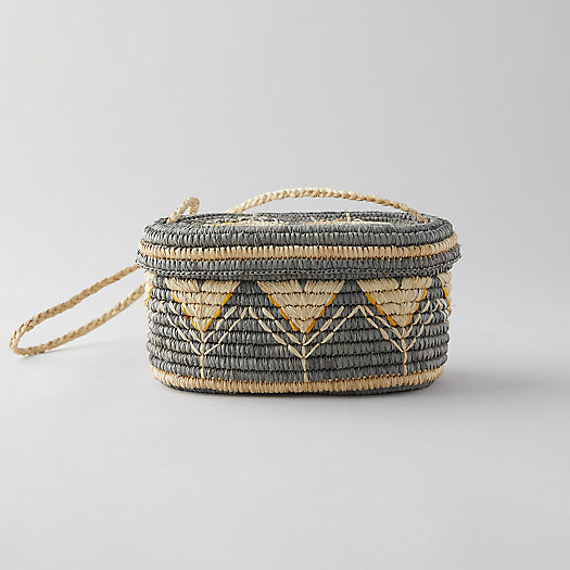 View larger image of Woven Raffia Shoulder Bag