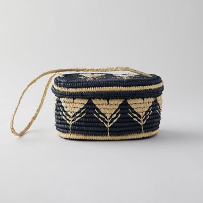 Woven Raffia Shoulder Bag