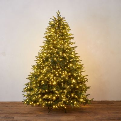 Faux Pre-Lit LED Blenheim Fir