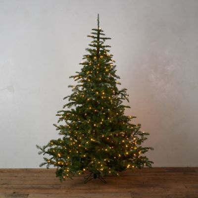 Faux Pre-lit LED Nordmann Fir Tree