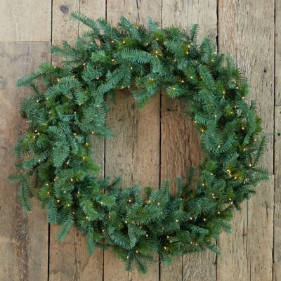 Faux Pre-Lit Nordmann Fir Wreath