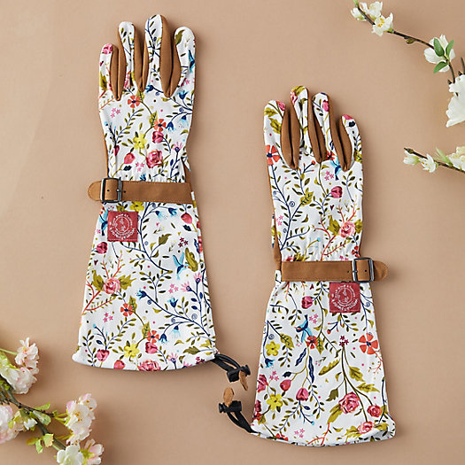 View larger image of Long Floral Garden Gloves