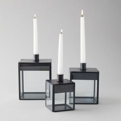Fillable Iron Taper Candle Holder