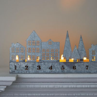 Tea Light Advent Village