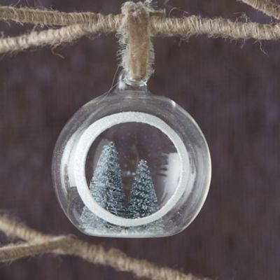 Evergreen Tree Globe Ornament