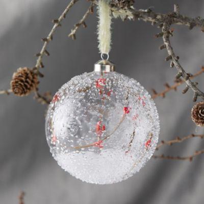 Snowy Branch Globe Ornament
