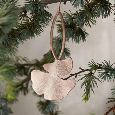 Metallic Ginkgo Ornament