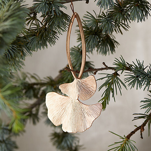 View larger image of Metallic Ginkgo Ornament