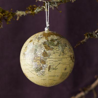 World Globe Ornament