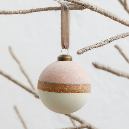 View larger image of Snowy Colorblock Globe Ornament