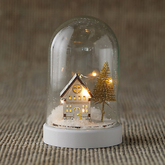 View larger image of LED Snowy Scene Cloche