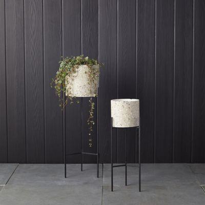 Terrazo Pot + Metal Stand
