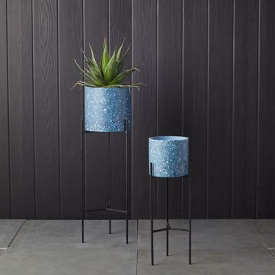 Terrazo Pot + Metal Stand