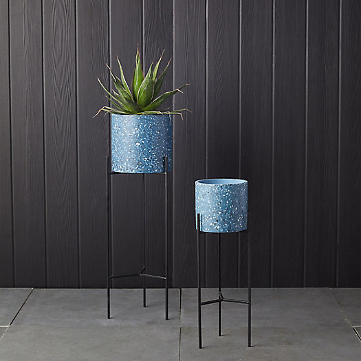 View larger image of Terrazo Pot + Metal Stand