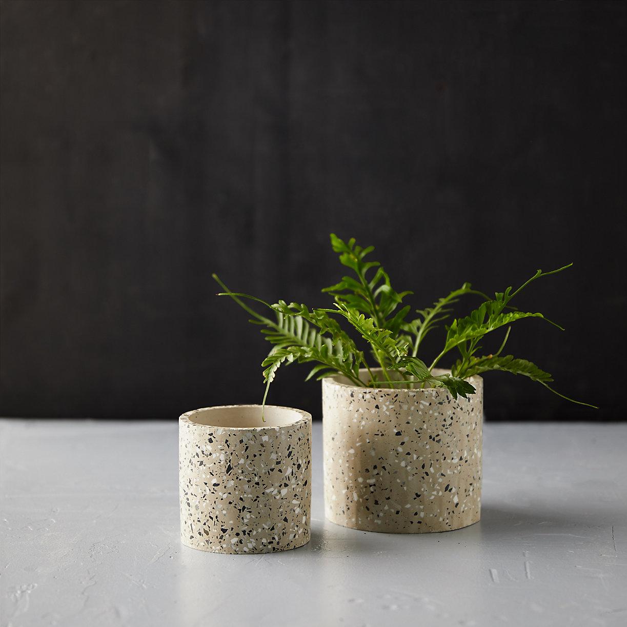 Terrazzo Cylinder Planter