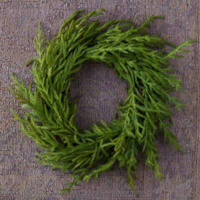 Faux Cryptomeria Wreath