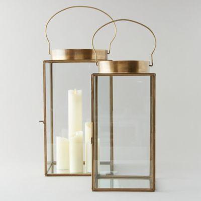 Wide Top Brass Lantern