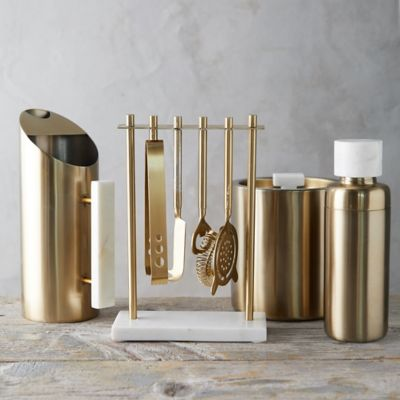 Brass + Marble Barware Collection