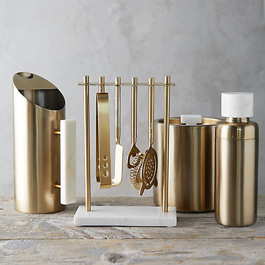 View larger image of Brass + Marble Barware Collection