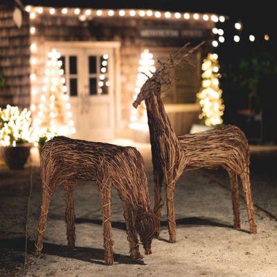 Standing Reindeer Garden Figure