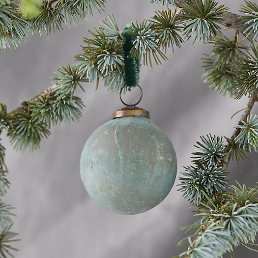 View larger image of Green Patina Globe Ornament