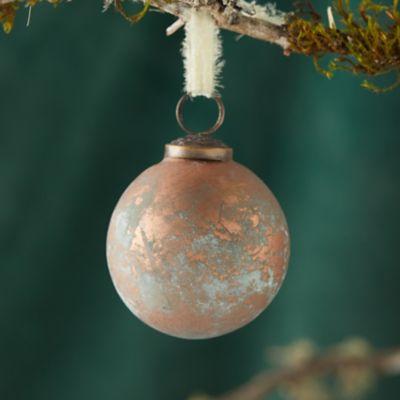 Copper Patina Globe Ornament
