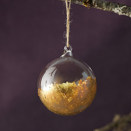 View larger image of Dipped Globe Leaf Ornament