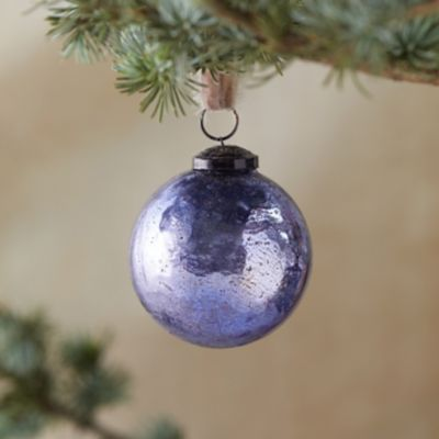 Textured Purple Globe Ornament