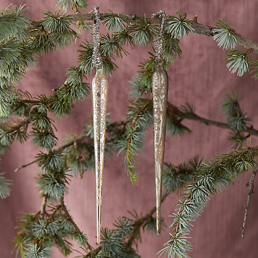 View larger image of Glass Icicle Ornament Set