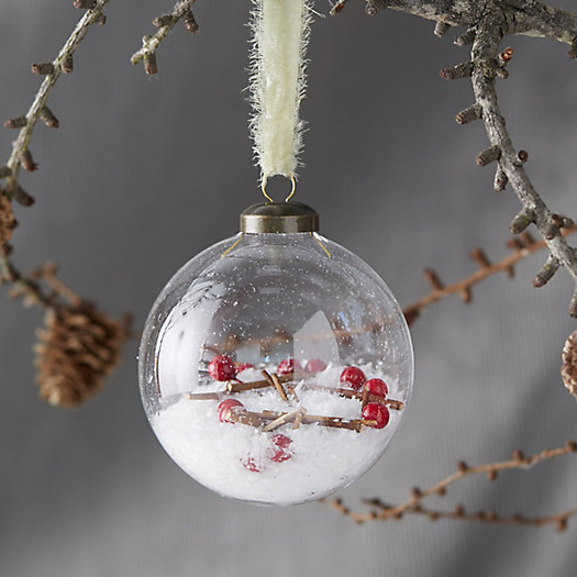 View larger image of Snowberry Filled Globe Ornament