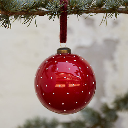View larger image of Red Polka Dot Globe Ornament