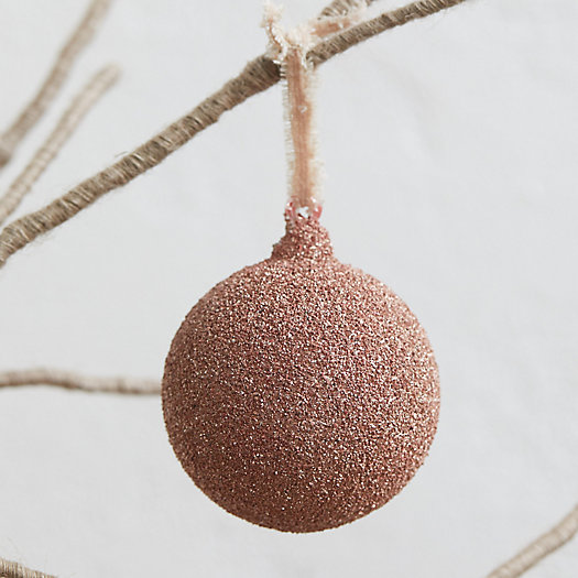 View larger image of Glittering Glass Globe Ornament, Pink