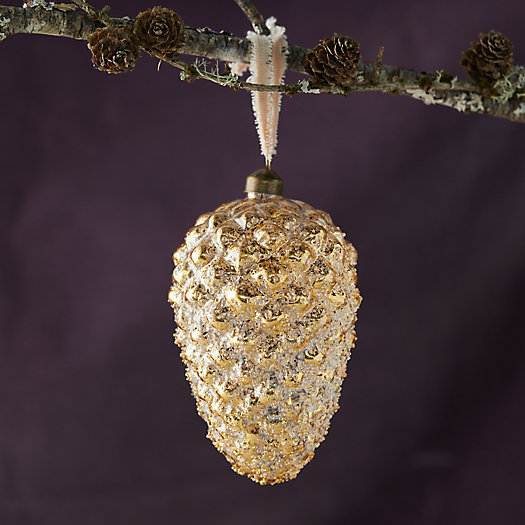 View larger image of Gold Pinecone Ornament, Medium