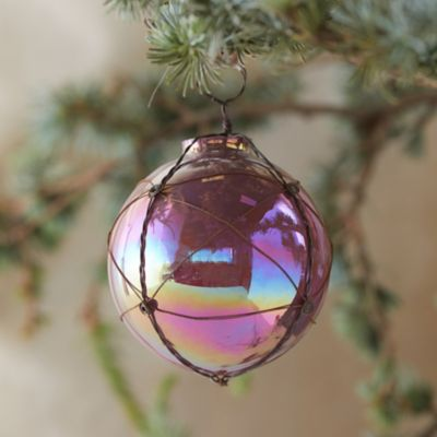 Pink Wire Wrapped Globe Ornament
