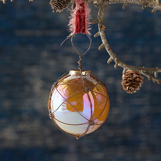 View larger image of Gold Wire Wrapped Globe Ornament