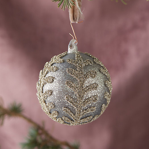 View larger image of Antiqued Silver Leaf Globe Ornament