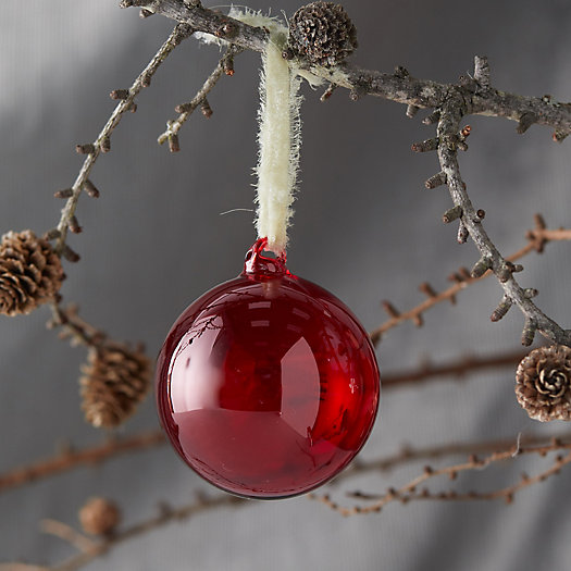 View larger image of Red Glass Top Globe Ornament