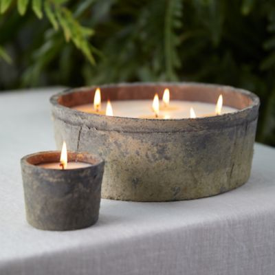 Linen Pot Citronella Candle
