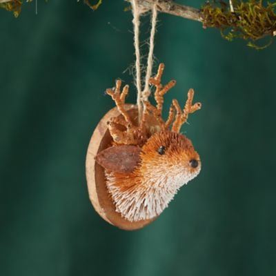 Brushed Deer Head Ornament