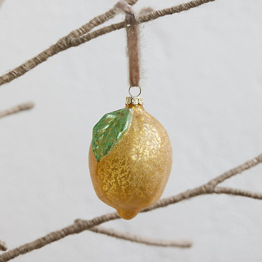 View larger image of Sparkling Glass Lemon Ornament