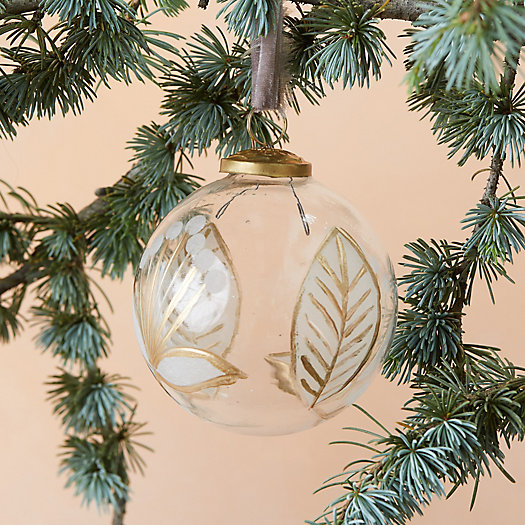 View larger image of Etched Botanical Globe Ornament