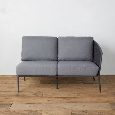 Bay Aluminum + Woven Rope Sofa, Right Arm