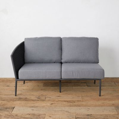 Bay Aluminum + Woven Rope Sofa, Left Arm
