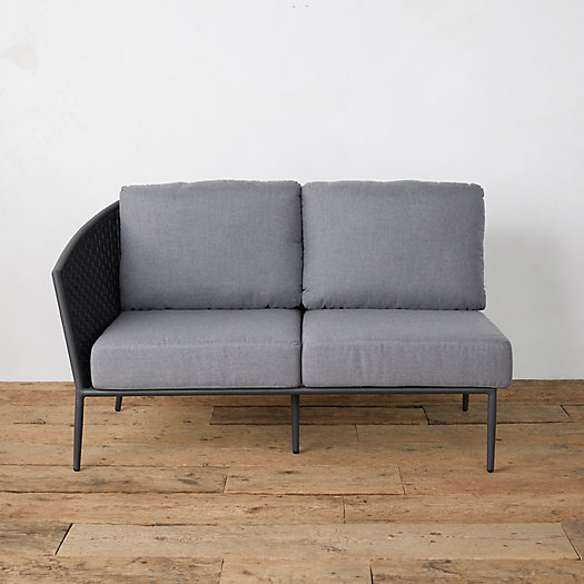 View larger image of Bay Aluminum + Woven Rope Sofa, Left Arm