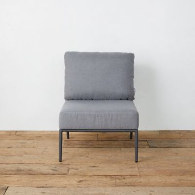 Bay Aluminum + Woven Rope Armless Chair