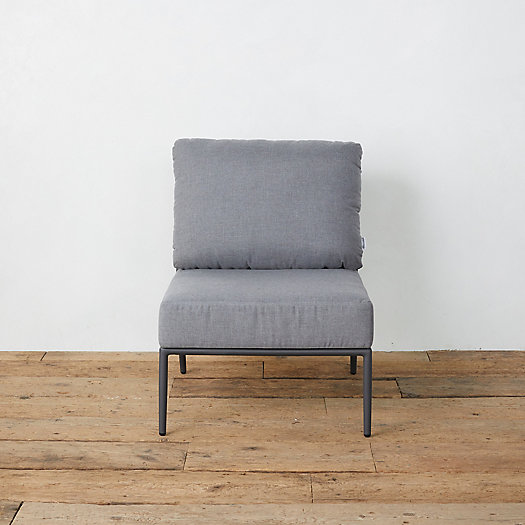 View larger image of Bay Aluminum + Woven Rope Armless Chair