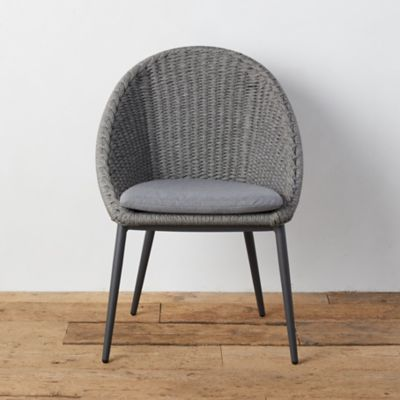 Canyon Curve Aluminum + Woven Rope Side Chair