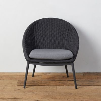 Canyon Curve Aluminum + Woven Rope Armless Chair