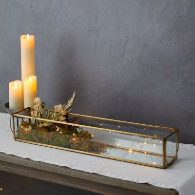 Mirrored Candle Trough